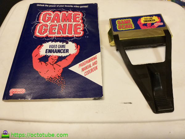 Game Genie for NES with book